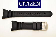 Citizen ECO DRIVE original watch band BLACK rubber strap JV0010-08E JV0000-10F