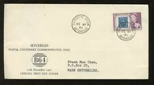 SEYCHELLES 1961 SILHOUETTE ISLAND 10c STAMP on STAMP