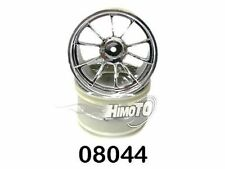 08044 COPPIA CERCHI CROMATI  MONSTER TRUCK 1:10 2PZ CHROME WHEEL RIM HIMOTO