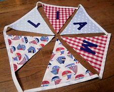 Personalised Name Bunting Boys, Sailboats, Nautical, £1.25 PER FLAG