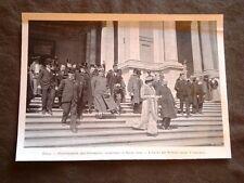 Roma nel 1903 Inaugurazione Esposizione promotrice delle Belle Arti Uscita