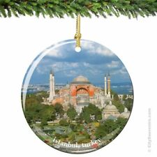 Istanbul Christmas Ornament, Porcelain Turkey Hagia Sophia Ornaments