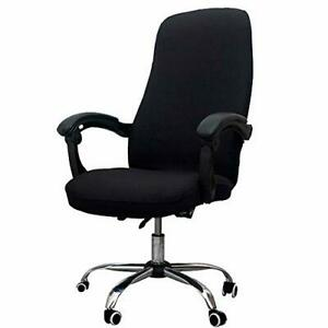 Office Chair Cover - Universal Stretch Desk Chair Cover, Micro Fiber Black