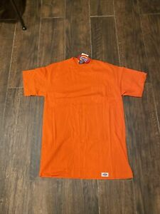 NWT Vintage 90s Dickies ORANGE Pocket Tee Single Stitch Size LARGE Made In USA