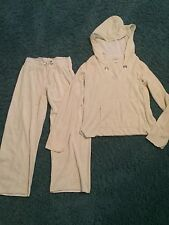 Calispia Light Green 100% Cotton Terrycloth Tracksuit (crop) Size S