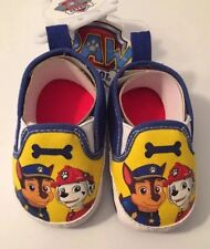 Paw Patrol Baby Boys Casual Slip-On Crib Shoes Size 1 - 3-6 Months Yellow & Blue