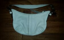 Coach purse off white leather - adjustable handle - key fob - tassel zip * GUC *