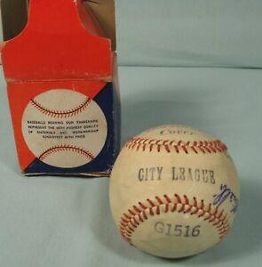1957 Minor League Palatka Florida Redlegs Autographed baseball by 3 players