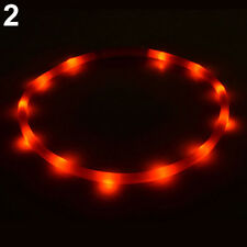Rechargeable USB Waterproof LED Flashing Light  Pet Dog Collar RED - 70CM