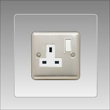 Socket Surround Single 3mm clear Acrylic Finger Plate Light Switch Plug