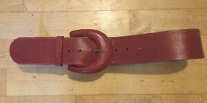 Kew Belt Red Leather Deep  Size S