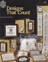 Designs that Count, Gloria & Pat Cross Stitch Pattern Book 6 Frogs Babies & More