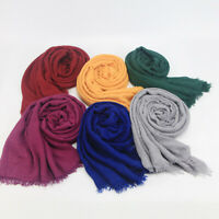 New Women Long Head Scarves Scarf Shawl Hijab Wrap Casual Solid Warm Gift