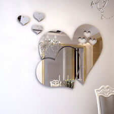 Removable 3D Mirror Love Hearts Wall Sticker Decal DIY Home Room Art Mural Decor