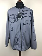 """Nike X Nathan Bell """"Doodle Print"""" Running Jacket Size Large"""