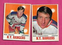 1970-71 OPC RANGERS ROD SEILING + PETE STEMKOWSKI  CARD (INV# C5576)