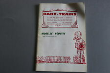 W953 BABY TRAINS Train catalogue Ho tarif 1976 90 p 25*17,5 F bateau avion auto