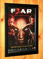 2011 F.E.A.R. 3 FEAR Rare Small Poster / Ad Page Framed PS3 Xbox 360 Live