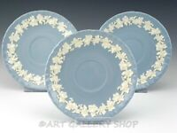 Wedgwood Queensware CREAM on LAVENDER SHELL SAUCERS ONLY NO CUPS Set of 3