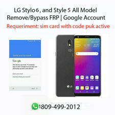 LG Stylo 6, Style 5 and All Model  Remove/Bypass FRP | Google Account ready desc