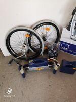 elektrische Brems- und Schiebehilfe v-max  Rollstuhl Unterstützung beim Schieben