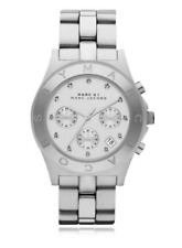 Marc By Marc Jacobs Unisex Silver Tone Stainless Steel Crystal Dial WATCH 40 ( n