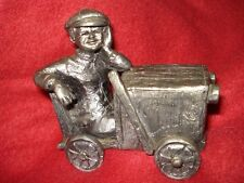 Michael Ricker Pewter Soapbox Derby Racer - Unique Very Detailed Boy Box Racing