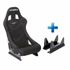 Cobra Monaco Pro Black FIA Track Race Rally Bucket Seat & Free Mounts!