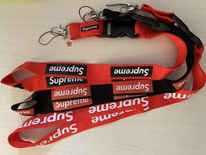 Lot of 20 Supreme Lanyard Key Chain Box logo US SELLER red black