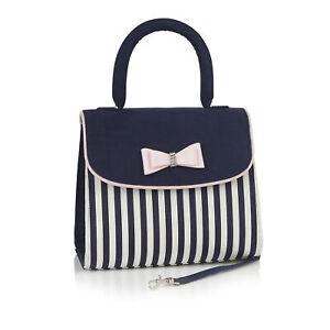 Ruby Shoo Banjul Bag Navy Stripe (Matches Lizzie Pump)
