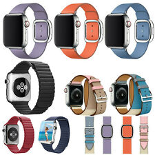 40/44mm Genuine Leather iWatch Band Strap Bracelet for Apple Watch Series 5 4 3
