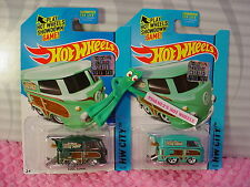 2015 SUPER Treasure Hunt KOOL KOMBI & Reg #73∞Green VW Bus;Surf ☆Hot Wheels☆MS☆