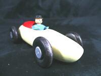 Antik Spielzeug Bolide Mercedes Silberpfeil Holz Volkskunst Geschenk