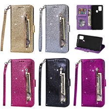 For Samsung Galaxy A21S A31 A51 A71 Case Bling Glitter Leather Flip Cover Wallet