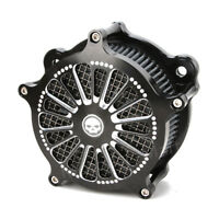 High Flow Deep CNC Cut Filter Air Cleaner For Harley Touring FLH Dyna 1993-2007