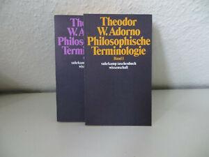 Philosophische Terminologie, Bd.1+2 (von Theodor W. Adorno; 1973/74)