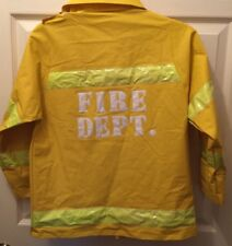 Fireman Fire Chief Jacket Coat Child Halloween Costume Pretend Play One Size