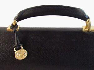 Men Briefcase Designer Dooney&Bourke  Black Leather Large Briefcase