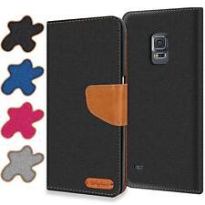 Handy Hülle Samsung Galaxy S5 Mini Tasche Wallet Flip Case Schutz Hülle Cover