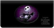 The Nightmare Before Christmas Leather Checkbook Cover