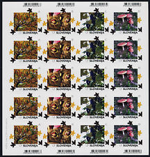 Slovenia 1065a-93a Sheets MNH Winter scenes, Trees, Turtle, Flowers, Crab, Fox
