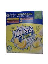 Wylers Light 50 Singles Strawberry Pink Blueberry Regular Lemonade NIB