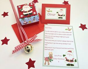 Personalised Father Christmas Letter, Santa Bell, Christmas Eve, Tree Decoration