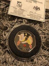 More details for [2006 iom xmas]1x isle of man christmas 50p diamond finish coloured coin-unc&coa
