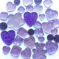 30 LILAC SPARKLES Gems Flatback Kawaii Cabochons Decoden Craft Kitsch