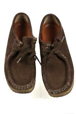 Clarks Originals Womens Wallabees Dark Brown  Suede Leather Lace Up Shoes 7M