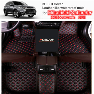3D Red Customized Waterproof Car Floor Mats for Mitsubishi Outlander 15 - 2021