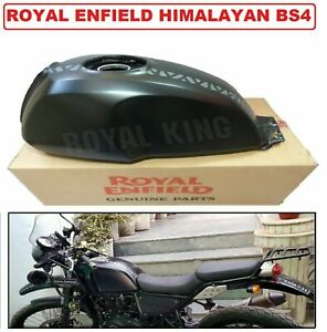 "Royal Enfield Himalaya BS4 Modell Schwarz Zoll Benzin Tank "" #866268"
