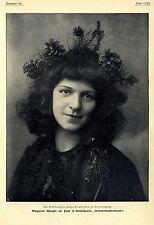 Zur Eröffnung des Harzer Bergtheaters am Hexentanzplatz Magarete Adolphi...1904