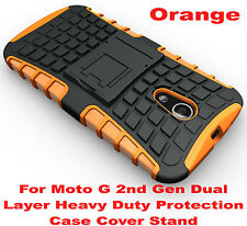 Orange Heavy Duty Tradesman Strong Case Cover For Motorola Moto G 2nd Gen 2014